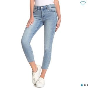 Lucky Brand Ava Cropped Skinny Jeans Light Wash
